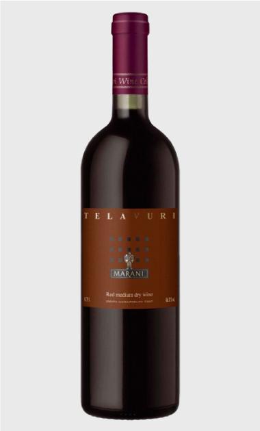 Wino Marani Telavuri czerwone półwytrawne